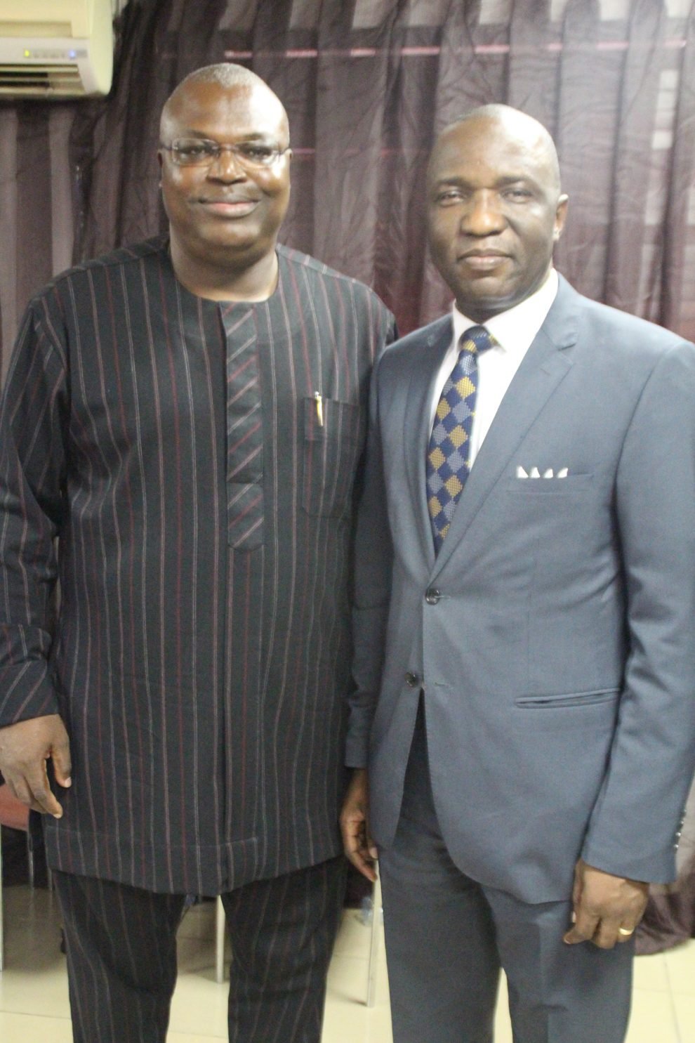L-R: Executive Director, Inlaks, Femi Muraino representing CEO of Inlaks, Femi Adeoti when NTA Channel 10 honoured Adeoti with the Exemplary Leadership in Business Award in Lagos and another award recipient, MD/CEO, Primero Transport Services, owner and operator of the Bus Rapid Transit, Fola Tinubu recently